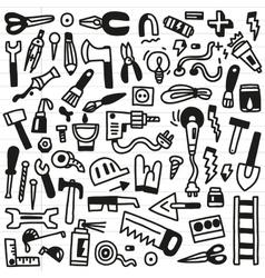 working tools - doodles vector image