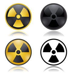 Radioactivity warning signs vector
