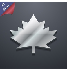 Maple leaf icon symbol 3d style trendy modern vector