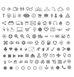 Complete icon set vector