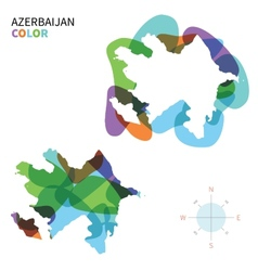 Abstract color map of azerbaijan vector