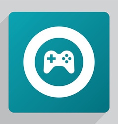 Flat joystick icon vector