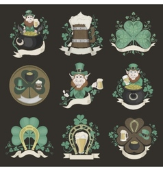 Set of pictures for st patricks day vector