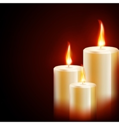 Candles on dark background eps 10 vector