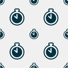 The stopwatch icon sign seamless pattern with vector