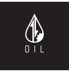 Fall and rise of oil prices logo vector