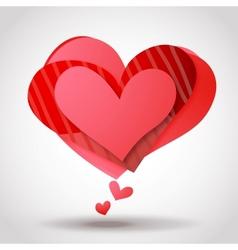 Abstract hearts vector image