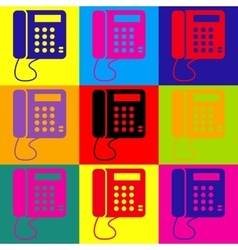 Communication or phone sign vector