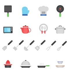 Color icon set - kitchenware vector image