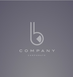 Alphabet small letter b transparent logo design vector image vector image