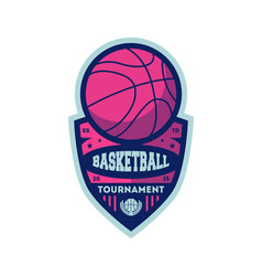 basketball championship vintage isolated label vector image vector image