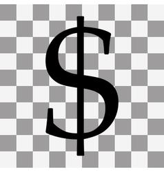 black dollar Icon vector image