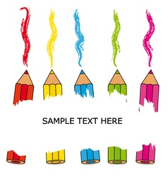 Card crayons vector