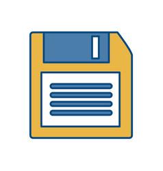Diskette icon image vector