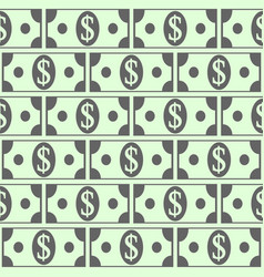 dollar icons seamless pattern vector image vector image