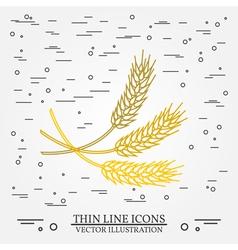Ears of grain thin line design ears of grain pen i vector