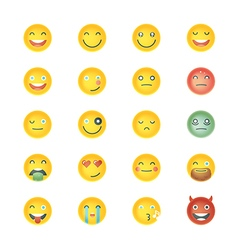 Emoticons collection set of emoji different vector