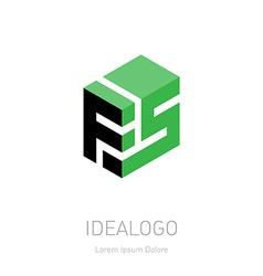 FS initial logo FS initial monogram logotype F5 vector image vector image