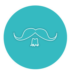 Gentleman mustache isolated icon vector