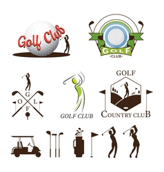 Golf Logo and Graphic Elements vector image vector image