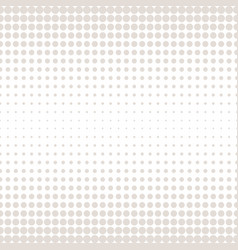halftone circles pattern with dots vector image vector image