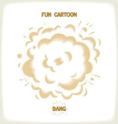 Halftone comic bang vector image