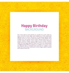 Happy birthday paper template vector
