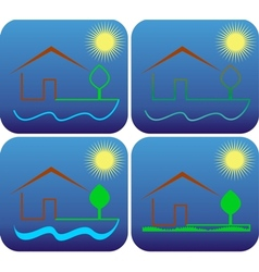 house by the sea vector image vector image