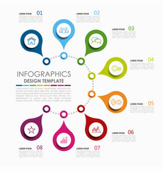 Infographic template used for workflow layout vector