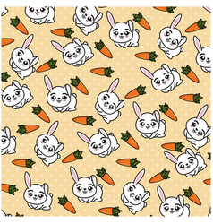 Isolated cute rabbit background vector