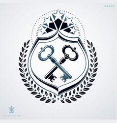 Luxury heraldic template vintage blazon vector