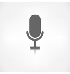 Microphone icon Sound recording vector image vector image