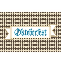 Oktoberfest background with banner and text vector image