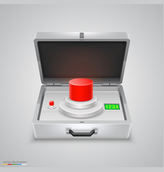 outdoor metal briefcase button vector image vector image