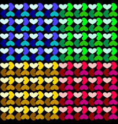 Pattern of a grid of hearts vector