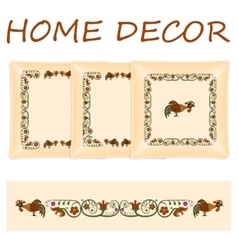 Set decorative pillows vector image vector image