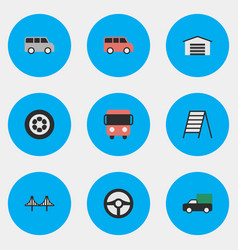 Set of simple shipping icons elements family vector