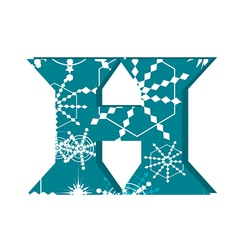 Snowflake- themed letter vector image vector image