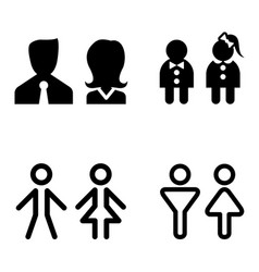 toilet icon great for any use symbol set vector image vector image