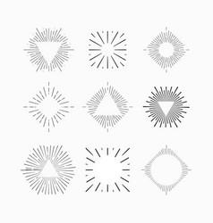 Tribal boho sun burst vintage starburst logo vector