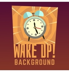 Wake up background vector