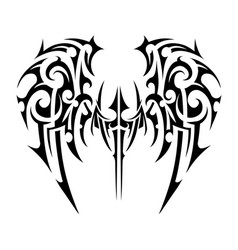 wings tattoo tribal art vector image