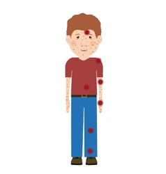 Avatar person sick isolated vector