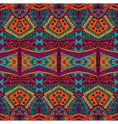 ethnic tribal ornamental pattern colorful vector image