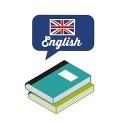 Learn english study icon vector