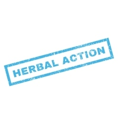 Herbal action rubber stamp vector