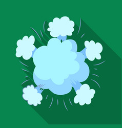 Explosion icon in flat style isolated on white vector