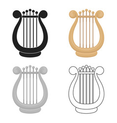 Harp icon in cartoon style isolated on white vector