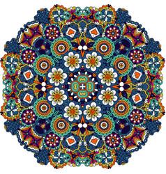 Mandala style floral decorative element vector