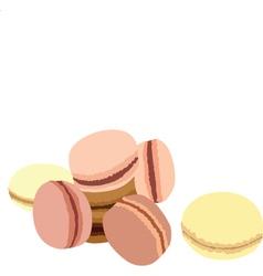 Pastel macaroons vector image